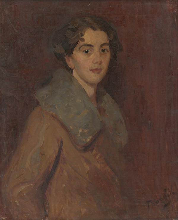 Andor Borúth – Podobizeň mladej ženy v zimníku
