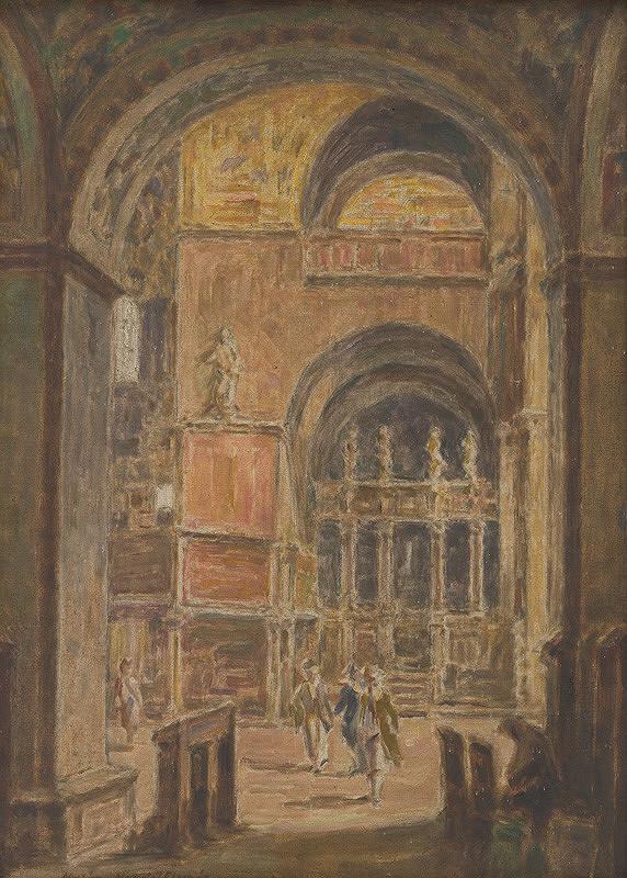Elemír Halász-Hradil – Chrám sv. Marka v Benátkach