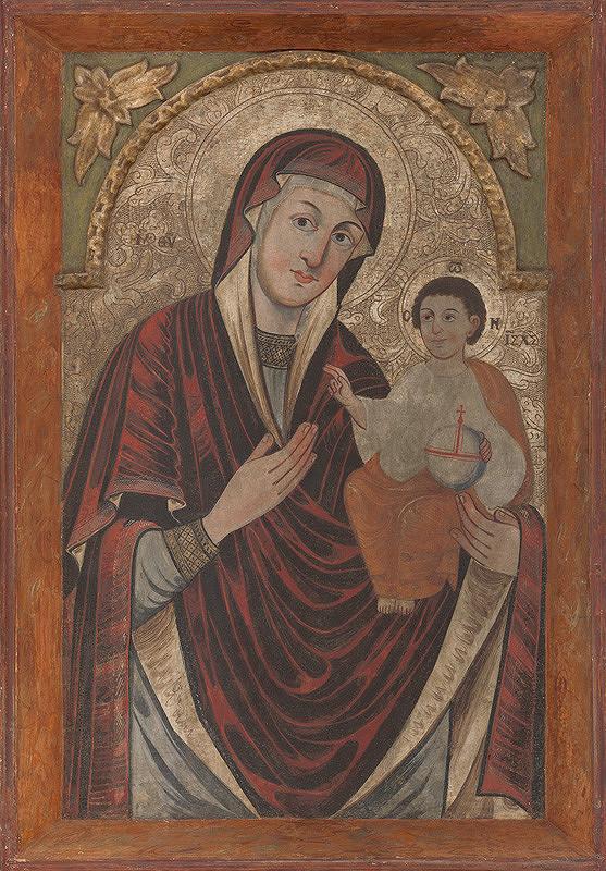 Karpatsko-Haličský maliar z 18. storočia – Madona