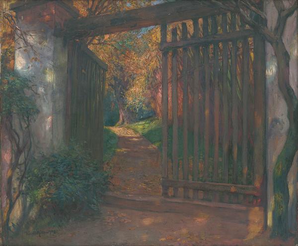 Maximilián Kurth - Pohľad do záhrady