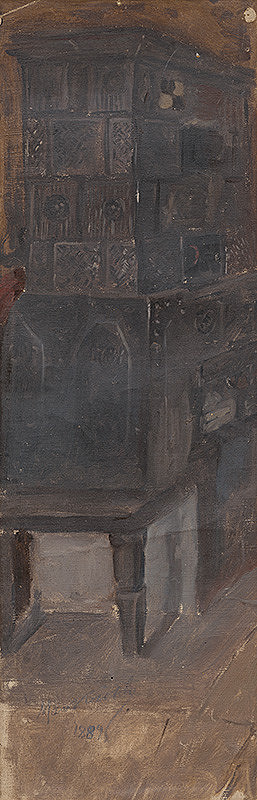 Maximilián Kurth – Štúdia pece k obrazu Návšteva chorej matky