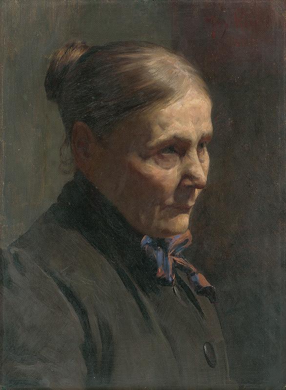 Maximilián Kurth – Štúdia ženskej hlavy