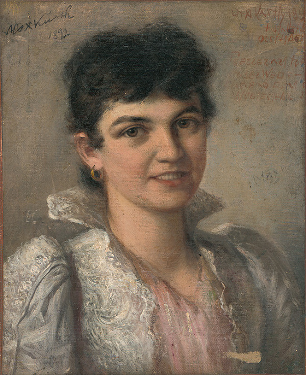 Maximilián Kurth - Podobizeň mladej ženy