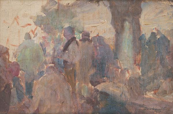 Maximilián Kurth – Štúdia k obrazu Odpust V.