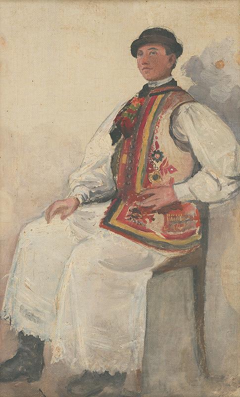 Maximilián Kurth – Štúdia muža v kroji