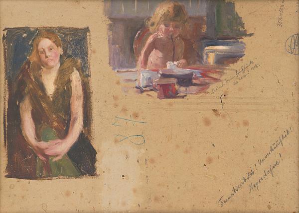 Maximilián Kurth - Štúdia ženy