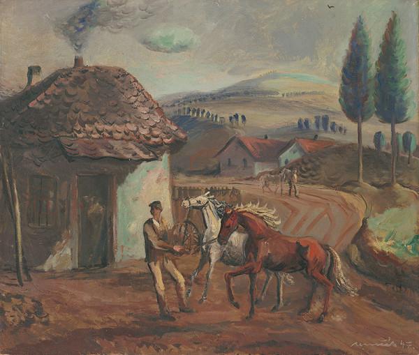 Július Nemčík - Na dedine