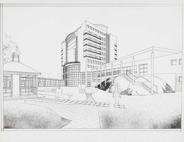 Rajmund Müller – Hotel ZDR v Bratislave - Petržalke. Perspektíva.