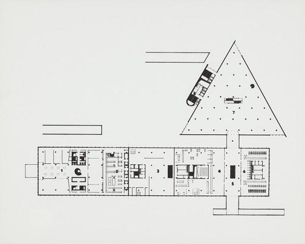 Rajmund Müller – Obchodný dom Prior a hotel Kyjev na Kamennom námestí v Bratislave. Pôdorys prízemia.