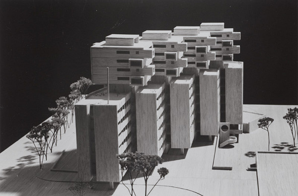 Rajmund Müller – Mestské centrum na Obchodnej ulici v Bratislave. Model.