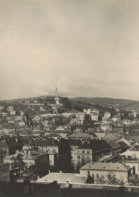 Ján Svetlík – Pamätník na Slavíne v Bratislave. Fotomontáž.