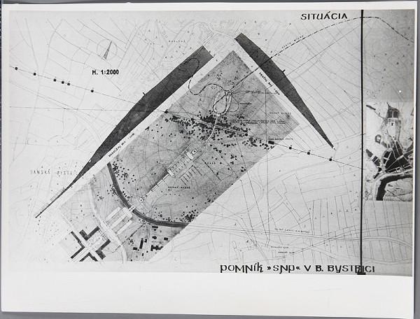 Ladislav Beisetzer, Neznámy autor - Súťaž na pomník SNP na Bánoši v Banskej Bystrici. Situácia (M1:2000)
