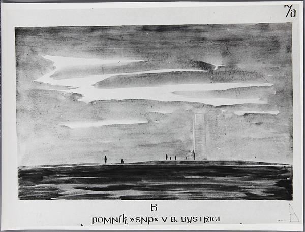 Ladislav Beisetzer, Neznámy autor - Súťaž na pomník SNP na Bánoši v Banskej Bystrici. Perspektívny pohľad z boku