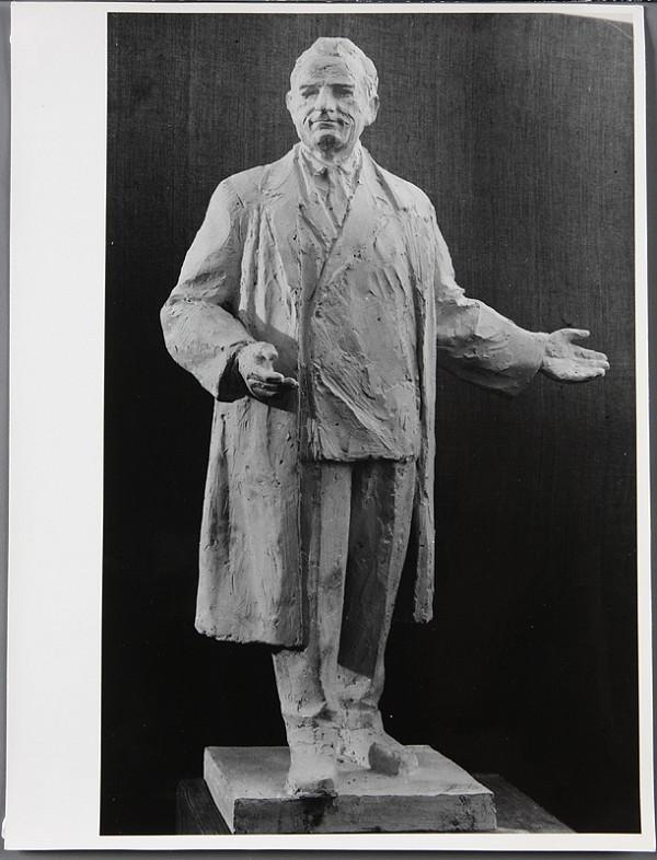 Ladislav Beisetzer, Ladislav Snopek - Súťaž na Gottwaldov pomník v Bratislave. Model figúry K. Gottwalda.