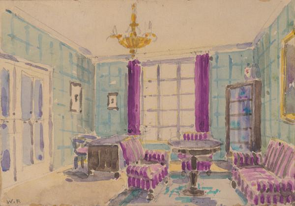 Franz Wimmer – Návrhy interiérov. Obývačka.