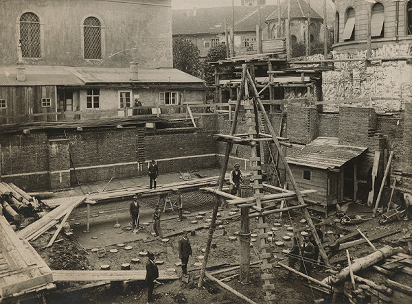 Milan Michal Harminc, Béla Mindszenty – Tatra banka v Bratislave. Výstavba budovy.