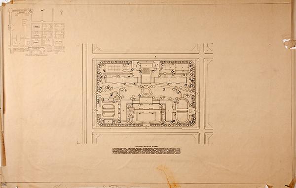 Emil Belluš - Budova československého veľvyslanectva v Pekingu. Situácia. M 1:5000 a M 1:500.