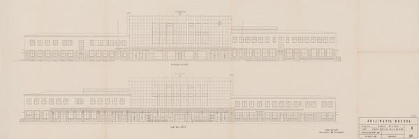 Ján Štefanec – Staničná budova v Banskej Bystrici. Južný a severný pohľad. M 1:100.