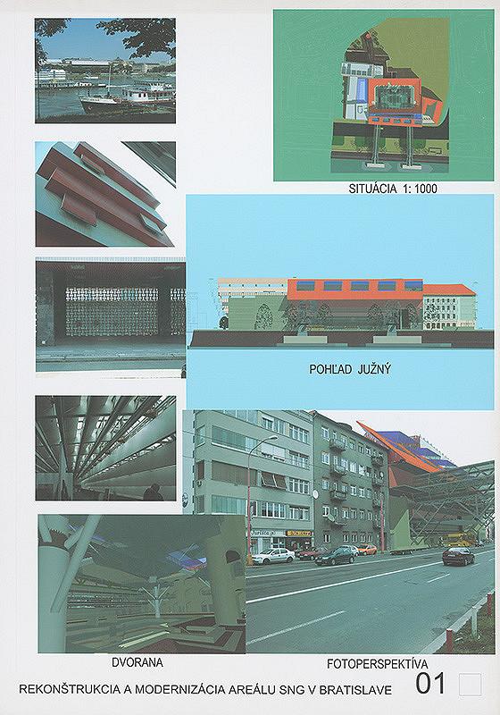 Ivan Matys - Súťaž na rekonštrukciu a modernizáciu areálu Slovenskej národnej galérie v Bratislave. Návrh č. 5. Panel č. 1.