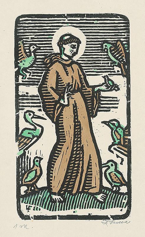 Ľudovít Fulla – Sv.František medzi vtáctvom