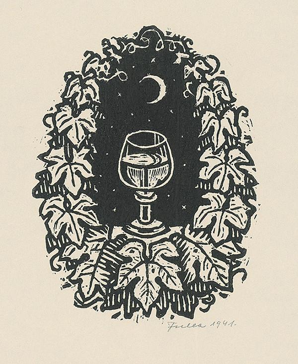 Ľudovít Fulla - Pohár s vínom