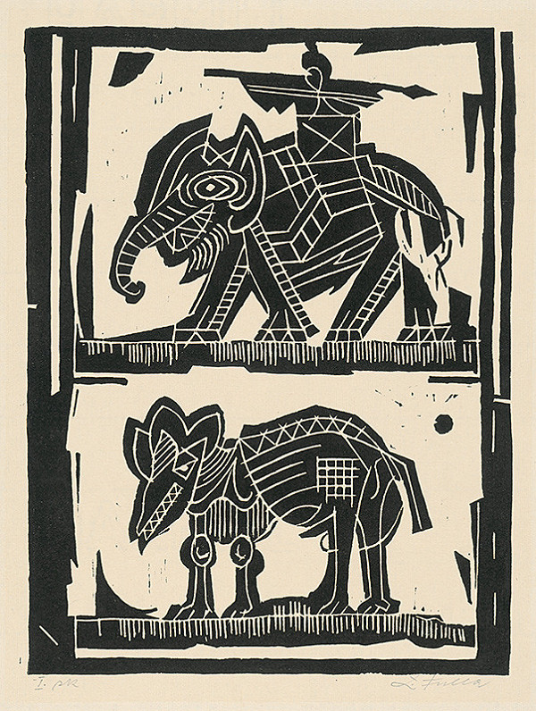 Ľudovít Fulla – Slon a tapír