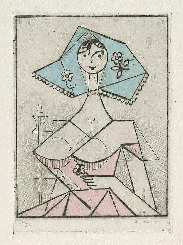 Ľudovít Fulla - Dievča s kvetom