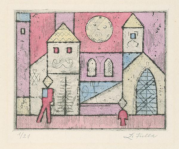 Ľudovít Fulla - Dvaja pred kostolom