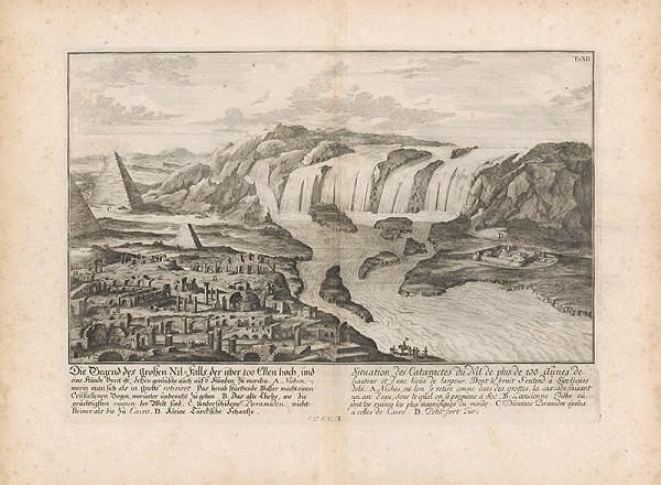 Johann Bernhard Fischer von Erlach, Johann Ulrich Krauss - Pohľad na náprotivnú stranu vodopádu na Níle