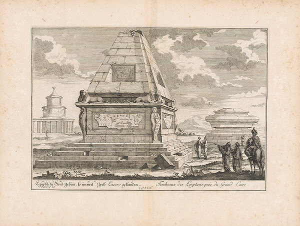 Johann Bernhard Fischer von Erlach, Johann Ulrich Krauss - Pohľad na egyptskú hrobku neďaleko Káhiry