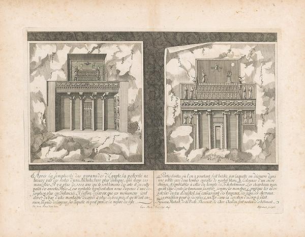 Johann Bernhard Fischer von Erlach, Johann Adam Delsenbach – Pohľad na dva portály do hrobky