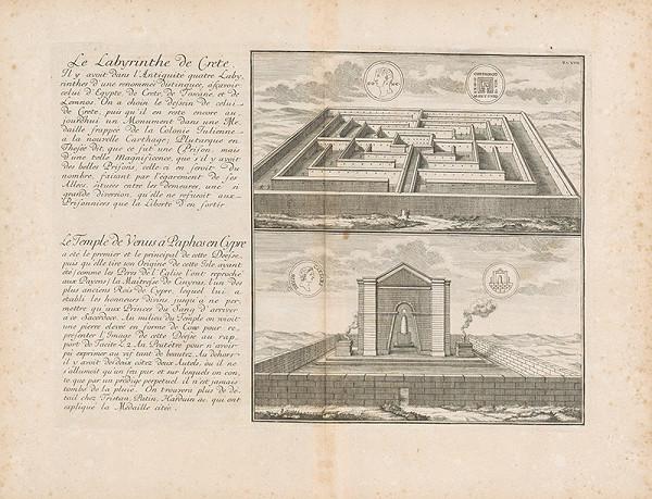 Johann Bernhard Fischer von Erlach, Johann Ulrich Krauss - Pohľad na Labyrint na Kréte a na Venušin chrám na Cypre
