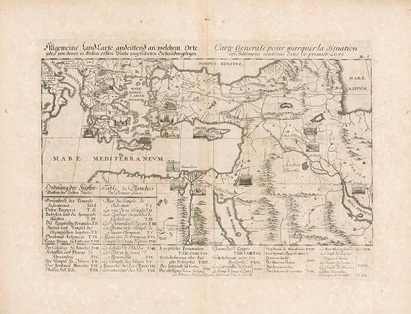 Johann Bernhard Fischer von Erlach, Johann Ulrich Krauss - Všeobecná mapa