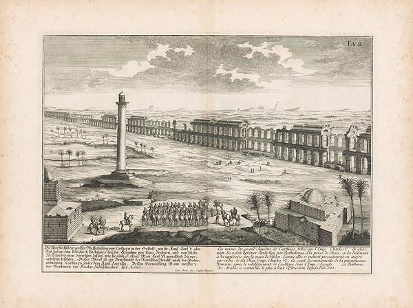 Johann Bernhard Fischer von Erlach, Johann Ulrich Krauss - Pohľad na ruiny akvaduktu v Kartágu