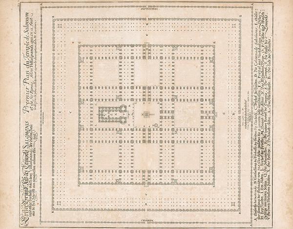 Johann Bernhard Fischer von Erlach, Johann Ulrich Krauss - Prvý plán Šalamúnovho chrámu