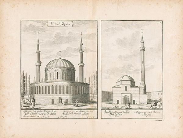 Johann Bernhard Fischer von Erlach - Pohľad na dve arabské budovy