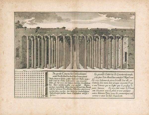 Johann Bernhard Fischer von Erlach, Johann Adam Delsenbach – Pohľad na veľkú cisternu v Konštantínopole