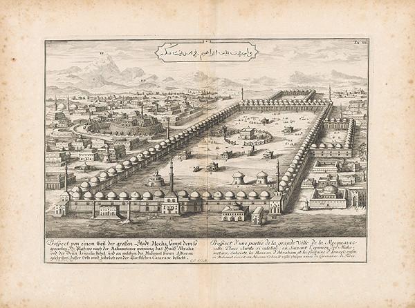 Johann Bernhard Fischer von Erlach - Pohľad na časť mesta Meka
