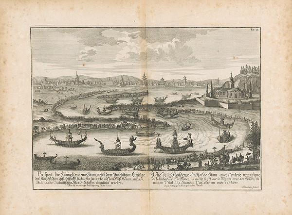 Johann Bernhard Fischer von Erlach, Johann Adam Delsenbach – Pohľad na kráľovskú rezidenciu Siam