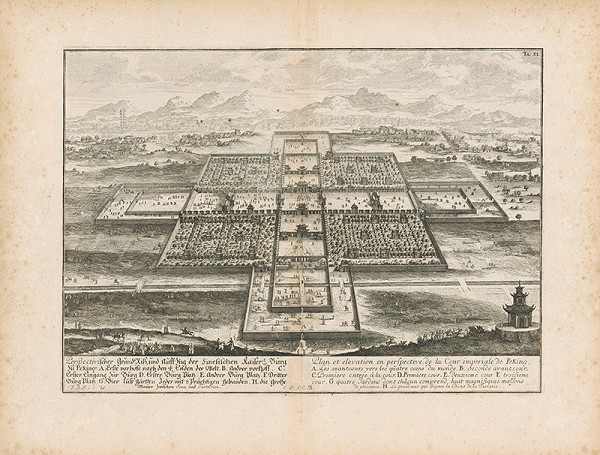 Johann Bernhard Fischer von Erlach - Pohľad na cisársky palác v Pekingu