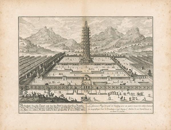 Johann Bernhard Fischer von Erlach - Pohľad na čínsky chrám pri meste Nan King