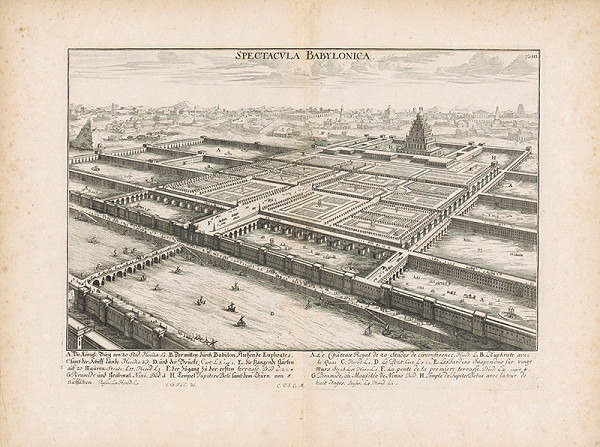 Johann Bernhard Fischer von Erlach, Johann Ulrich Krauss - Pohľad na Babylóniu