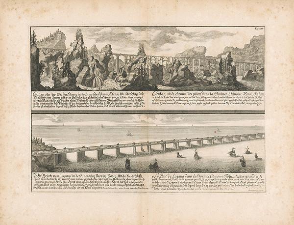 Johann Bernhard Fischer von Erlach, Johann Adam Delsenbach – Pohľad na dva čínske mosty