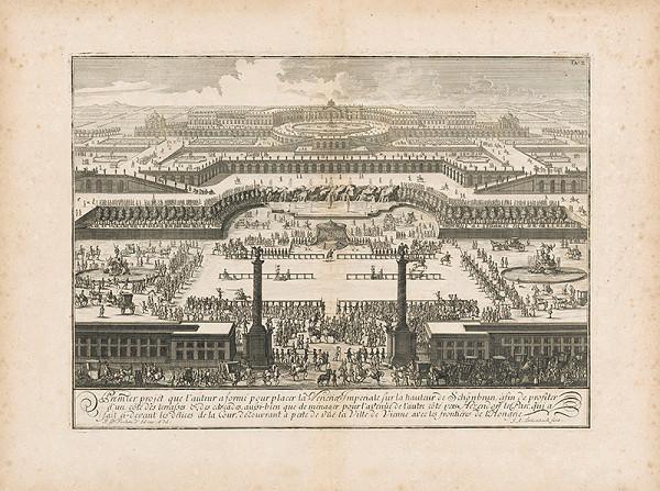 Johann Bernhard Fischer von Erlach, Johann Adam Delsenbach – Prvý návrh Schönbrunu