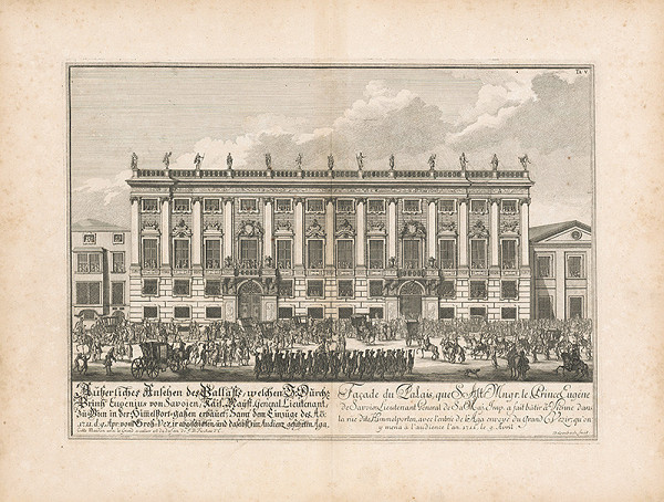 Johann Bernhard Fischer von Erlach – Pohľad na fasádu paláca