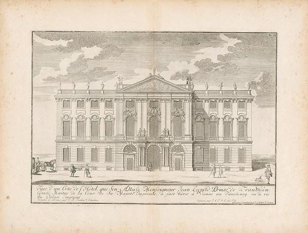 Johann Bernhard Fischer von Erlach, Christian Engelbrecht, Johann Andreas Pfeffel - Pohľad na fasádu súkromnej budovy
