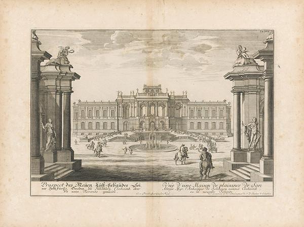Johann Bernhard Fischer von Erlach - Pohľad na Lusthaus pri Salzburgu