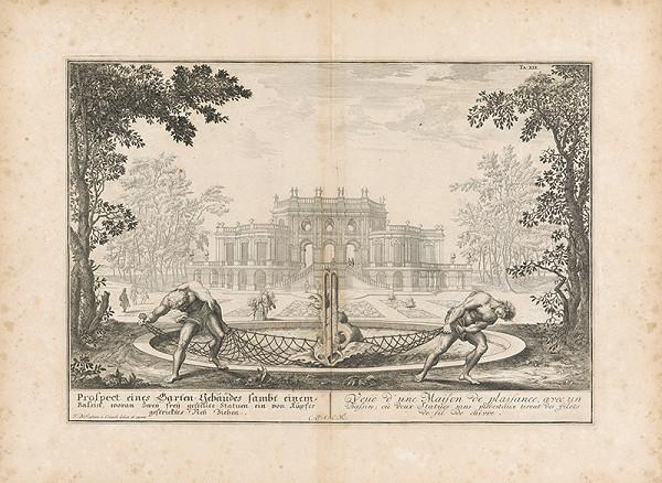 Johann Bernhard Fischer von Erlach - Pohľad na záhradnú budovu