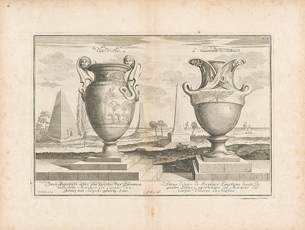 Johann Bernhard Fischer von Erlach – Pohľad na dve egyptské vázy z porfýru II.