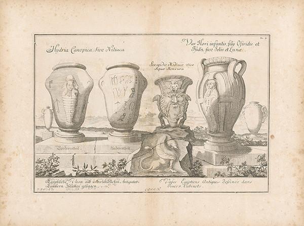 Johann Bernhard Fischer von Erlach - Pohľad na štyri egyptské vázy